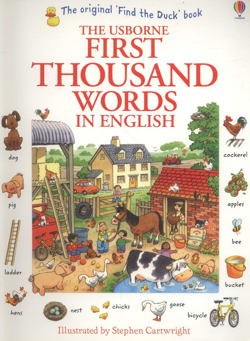 Usborne First Thousand Words In English Children Book By Heather Amery -Paperback - Age 0-5 - Books2Door