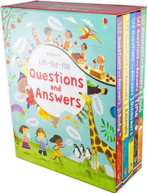 Usborne Lift-the-flap Questions and Answers 5 Books Box Set - Books2Door