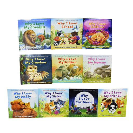 0-5 - Why I Love My Family 10 Picture Books Children Collection - Ages 0-5 - Paperback Set By Daniel Howarth