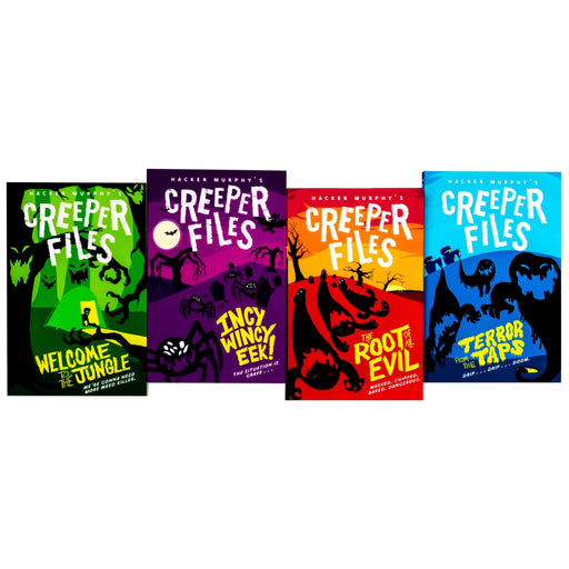Creeper Files 4 Book Collection - Ages 7-9 - Paperback - Hacker Murphy - Books2Door