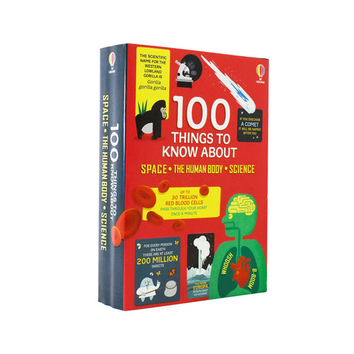 100 Things to Know About Space, Science and Human Body 3 Books - Age 5-7 - Hardback by Alex Frith , Jerome Martin &  Alice James
