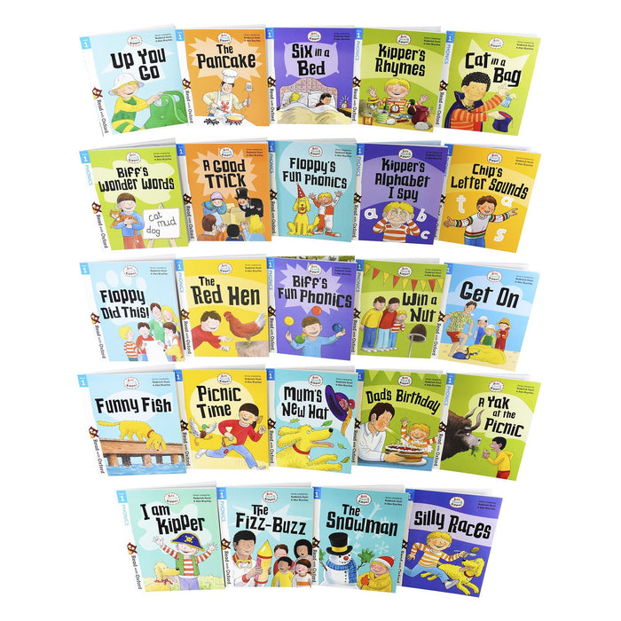 Biff, Chip and Kipper Stage 1 Read with Oxford for Age 3+ Childrens Early Learning - 24 Books Collection Set 3+ Oxford University Press