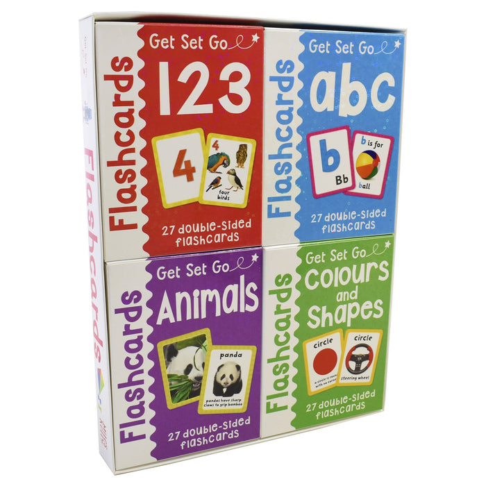 Flashcards ABC,123,Animals,Colour Get Set Go Pack 3+ Miles Kelly