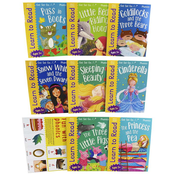 3+ - Get Set Go Learn To Read Cinderella Phonics 8 Books Collection Set - Ages 3+ - Paperback
