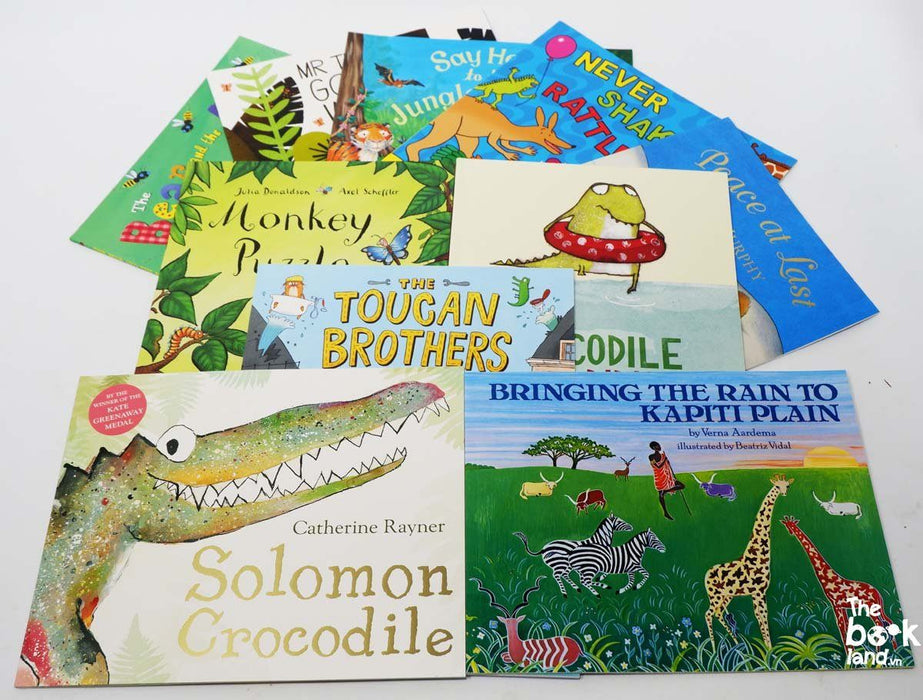 3+ - Go Wild Animals Picture Book Collection 10 Books - Paperback - Age 3-5