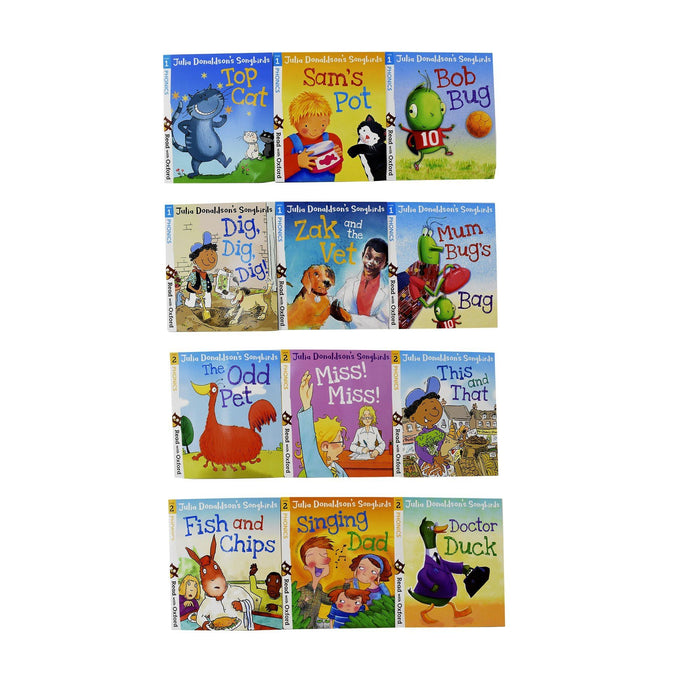 3+ - Julia Donaldson's Songbirds Phonics 36 Books Read With Oxford Collection Set (Stage 1 - 4) - Paperback - Age 0-5