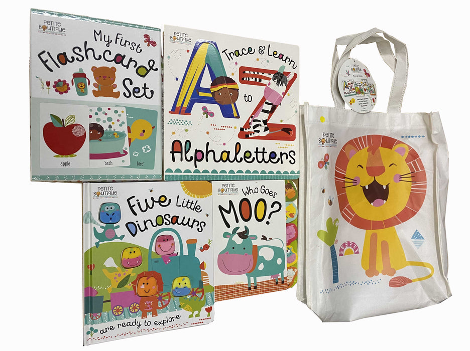 3+ - Petite Boutique Collection 3 Books With Flashcard In A Bag - Board Books-Age 3+