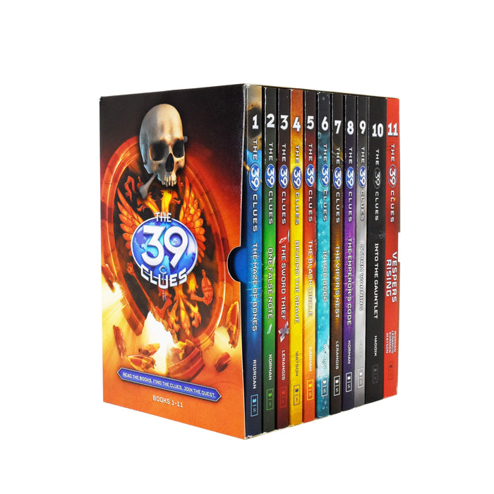 The 39 Clues Series 11 Book Collection Box Set - Ages 9-14 - Paperback - Rick Riordan