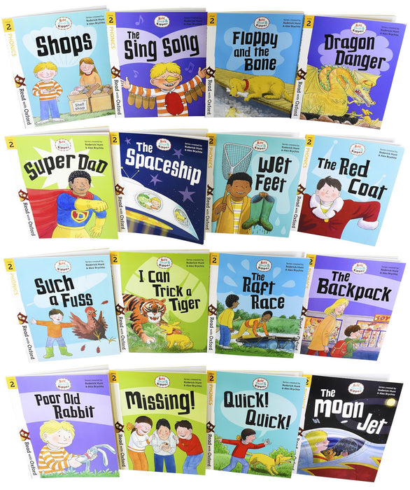 Biff, Chip and Kipper Stage 2 Read with Oxford for Age 4+ School Early Learners - 16 Books Collection Set - Books2Door