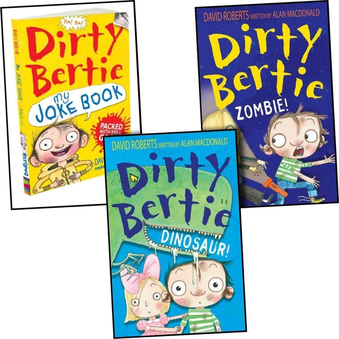 Dirty Bertie 3 Books Collection - Ages 5-7 - Paperback - Alan MacDonald 5-7 Stripes