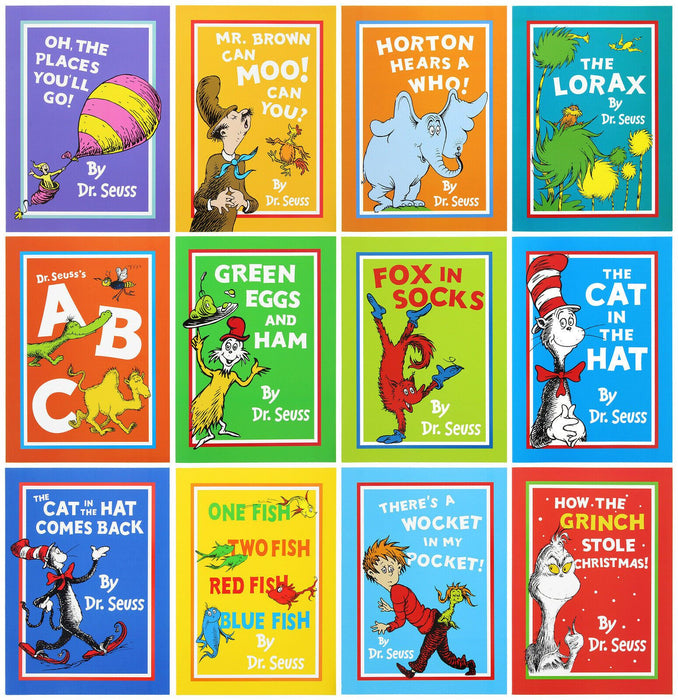 5-7 - Dr Seuss Children's Easy Read, Large Format In A Bag 12 Book Set- Paperback -Age 5-7