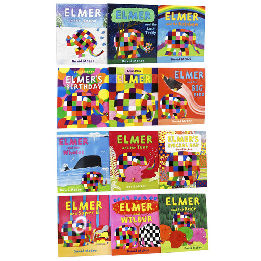 5-7 - Elmer 12 Books Collection - Ages 5-7 - Paperback - David McKee