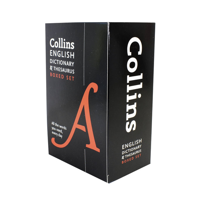 5-7 - English Dictionary And Thesaurus 2 Books Box Set - Paperback - Collins
