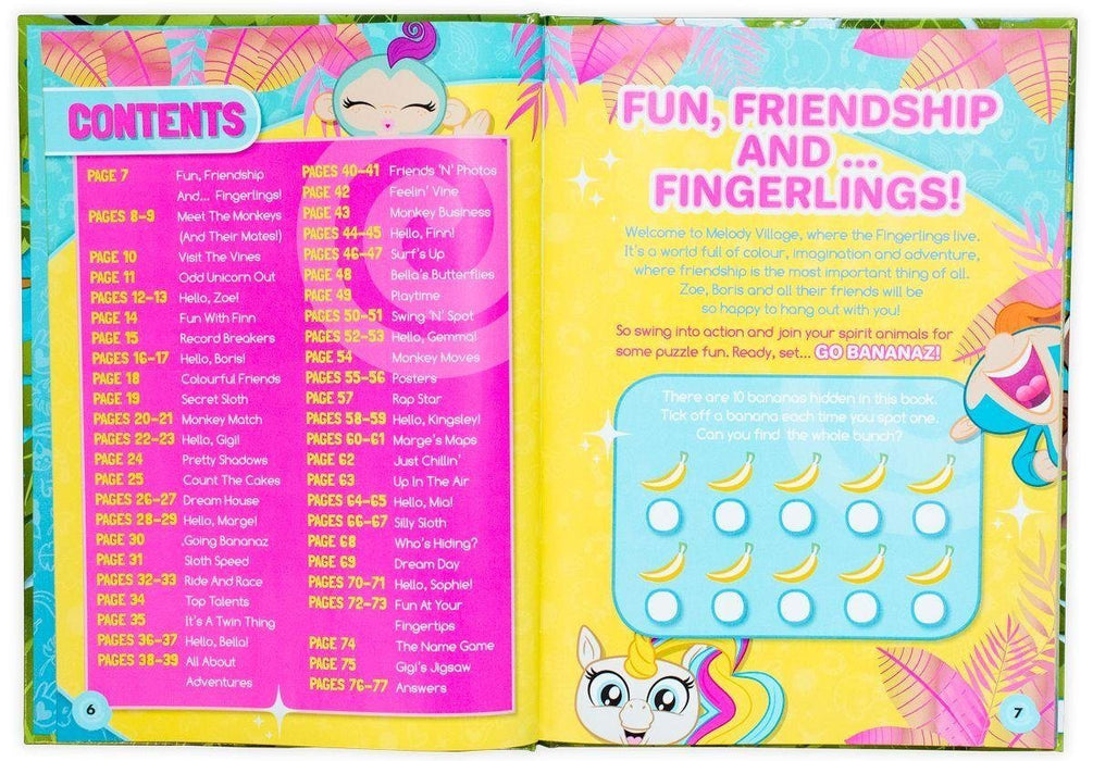Fingerlings: Friendship at your Fingertips Annual 2019 - Ages 5-7 - Hardback - Books2Door