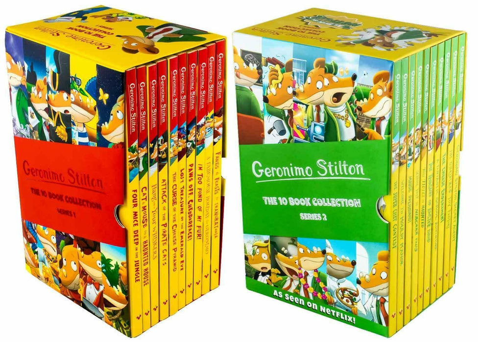 Geronimo Stilton 20 Books Box Set Collection - 2 Box Sets - Ages 5-7 - Paperback - Books2Door