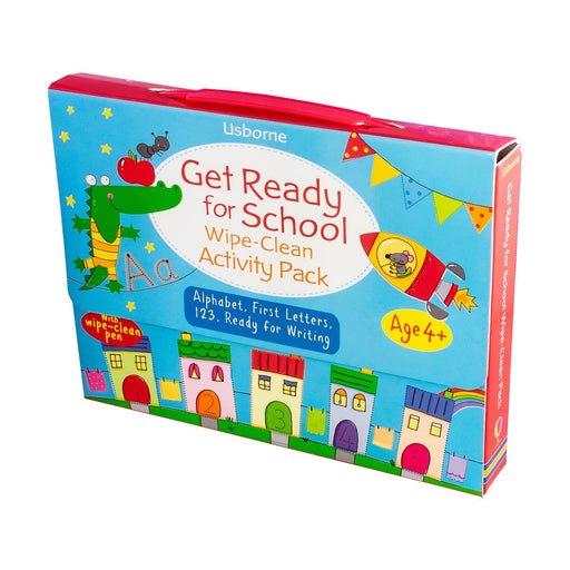 Get Ready for School Wipe-Clean Activity Pack 4 Book Collection - Ages 5-7 - Paperback - Usborne 5-7 Usborne Publishing