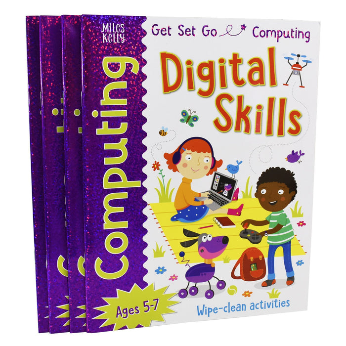5-7 - Get Set Go Computing 4 Books - Ages 5-7 - Paperback - Miles Kelly