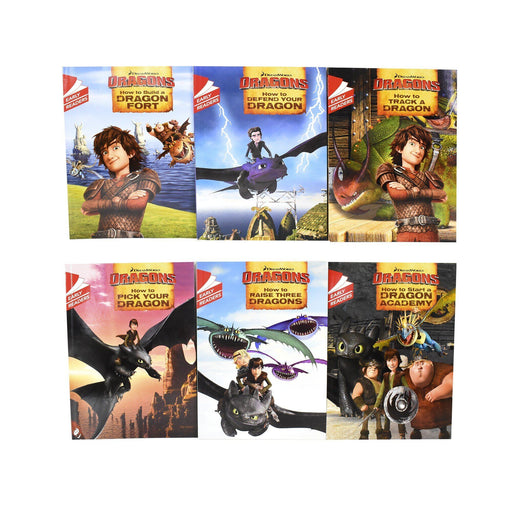 5-7 - How To Train Your Dragon Early Reader 6 Books Children Set - Ages 5-7 - Paperback By Erica David