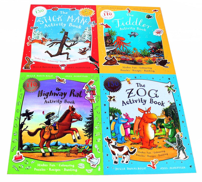 Julia Donaldson and Axel Scheffler 4 Activity Books - Ages 5-7 - Paperback 5-7 Scholastic