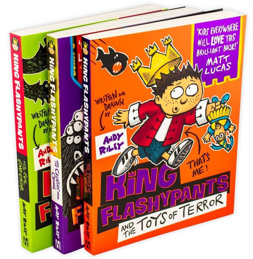 King Flashypants 3 Book Collection - Ages 5-7 - Paperback - Andy Riley - Books2Door