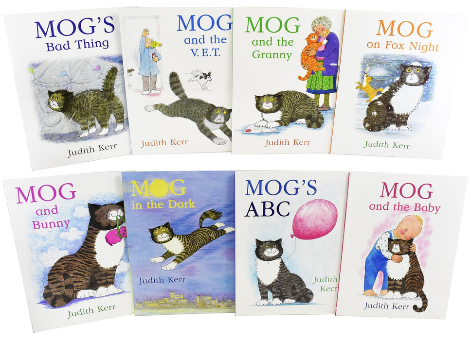 Mog The Cat 8 Books Children - Ages 5-7 - Paperback Gift Pack Set By Judith Kerr - Books2Door