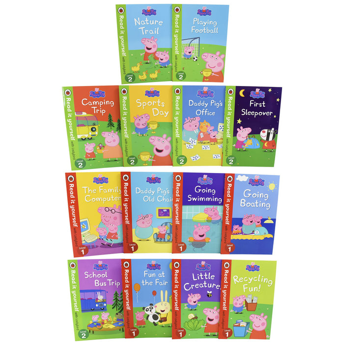 5-7 - Peppa Pig Read It Yourself With Ladybird 14 Books - Ages 5-7 - Paperback