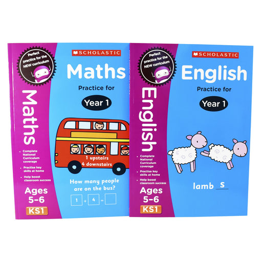 5-7 - Perfect Practice KS1 English And Maths Year 1 - 2 Books For Age 5-6 Years - Paperback
