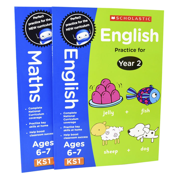 5-7 - Perfect Practice KS1 English And Maths Year 2  - 2 Books For Age 6-7 Years - Paperback