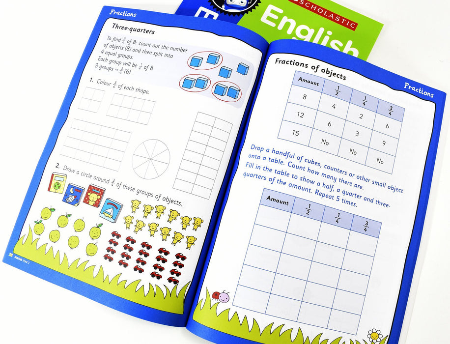 Perfect Practice KS1 English and Maths Year 2 - 2 Books For Age 6-7 Years - Paperback 5-7 Scholastic