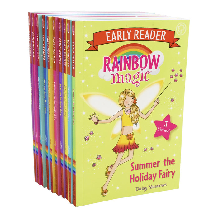 5-7 - Rainbow Magic Early Reader 10 Book Collection - Ages 5-7 - Paperback - Daisy Meadows