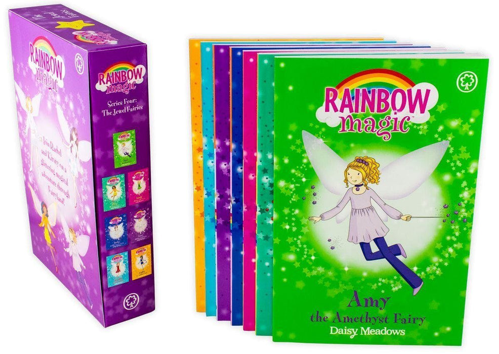 Rainbow Magic The Jewel Fairies 7 Book Collection (Series 4) - Ages 5-7 - Paperback - Daisy Meadow - Books2Door