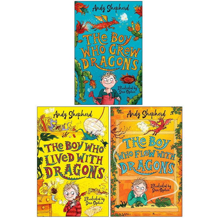 5-7 - The Boy Who Grew Dragons  3 Books Collection - Ages 5-7 - Paperback - Andy Shepherd