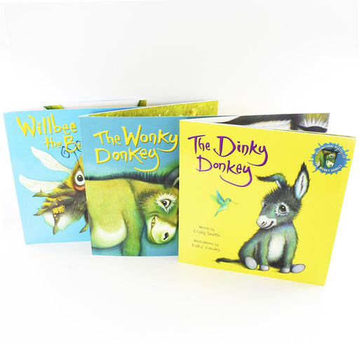 The Dinky Donkey, Willbee the Bumblebee, The Wonky Donkey 3 Books Collection Set - Ages 5-7 - Paperback - Craig Smith - Books2Door