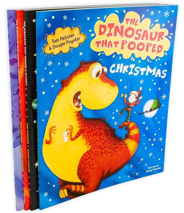 The Dinosaur that Pooped 4 Book Collection - Ages 5-7 - Paperback - Tom Fletcher and Dougie Poynter - Books2Door