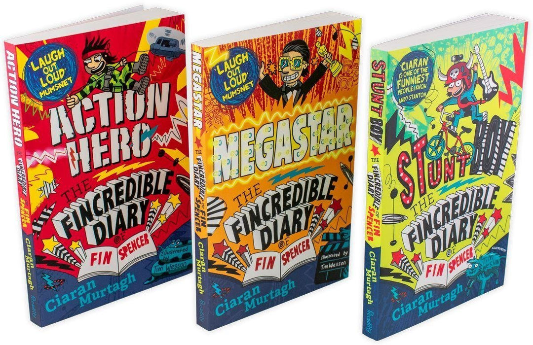 The Fincredible Diary of Fin Spencer 3 Book Collection - Ages 5-7 - Paperback - Ciaran Murtagh 5-7 Piccadilly Press