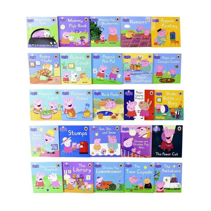 The Incredible Peppa Pig Collection 50 Paperbacks Books Box Set - Ages 5-7 - By Ladybird 5-7 Ladybird