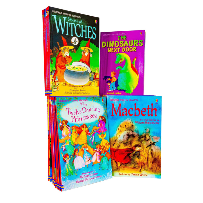 The Usborne Reading 40 Book Collection - Ages 5-7 - Hardback - Books2Door