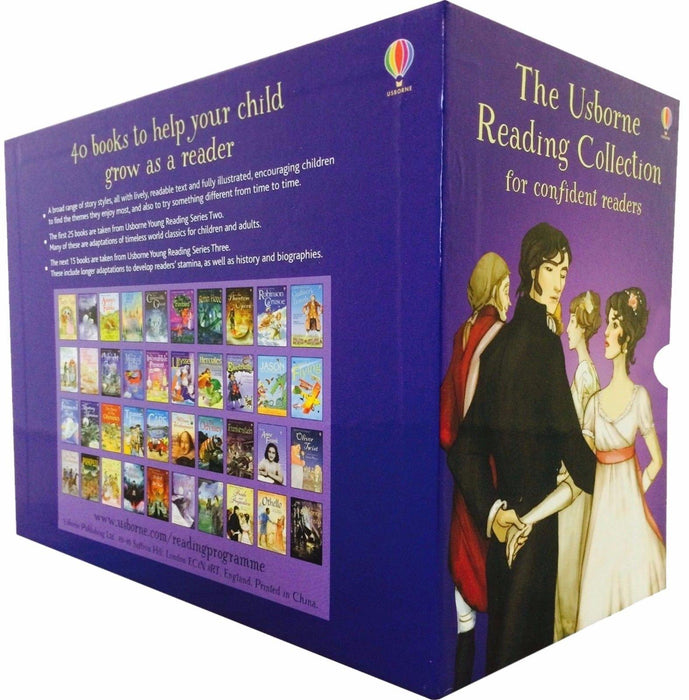 The Usborne Reading 40 Books Collection for Confident Readers - Ages 5-7 - Paperback - Books2Door