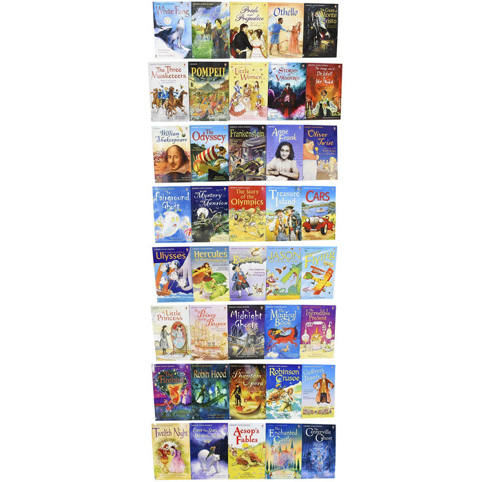 5-7 - The Usborne Reading 40 Books Collection For Confident Readers - Ages 5-7 - Paperback