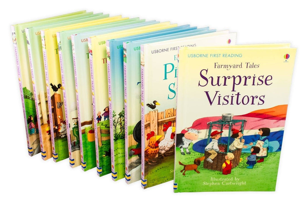 Usborne First Reading Farmyard Tales 10 Book Collection - Ages 5-7 - Hardback - Books2Door