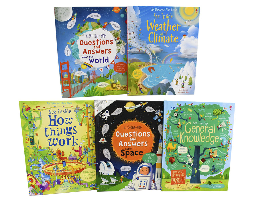 5-7 - Usborne Lift The Flap 5 Books Collection Set With Over 380 Flaps To Lift - Hardback - Age 5-7