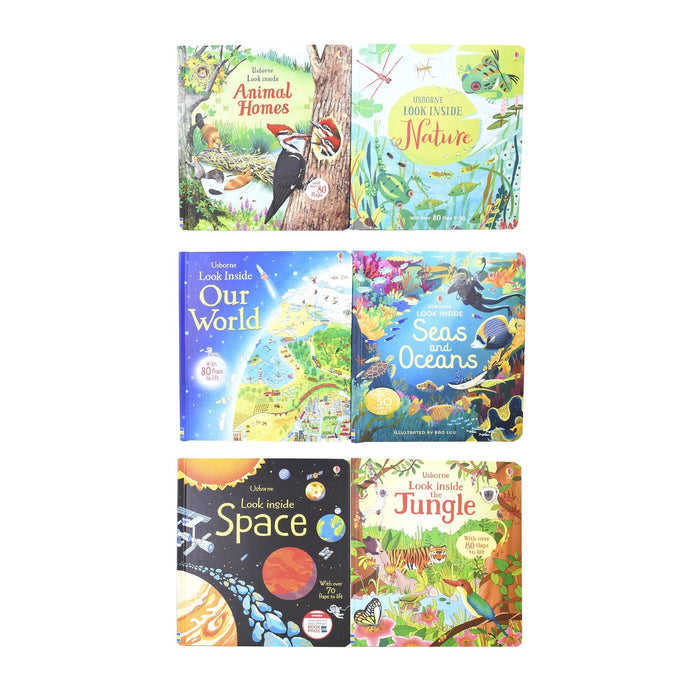 5-7 - Usborne Look Inside 6 Book Collection - Ages 5-7 - Hardback