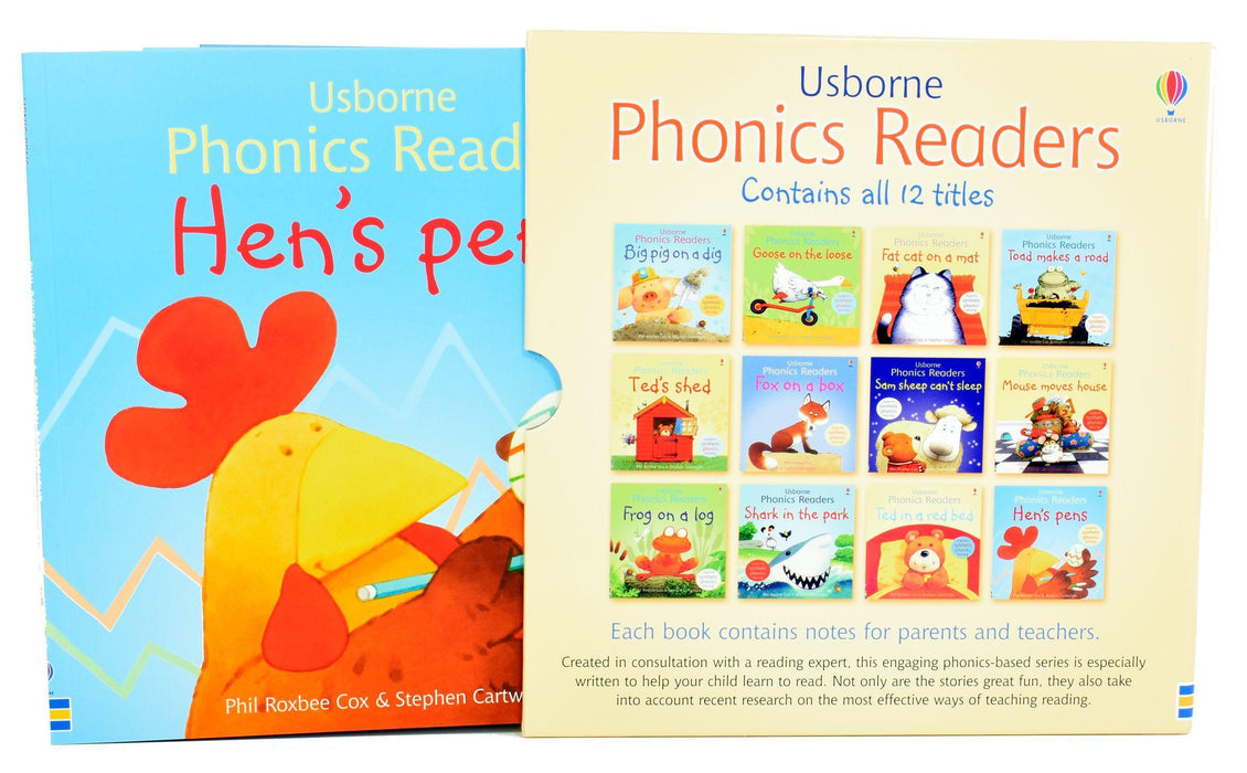 Usborne Phonics Readers - 12 Books Box Set - Ages 5-7 - Paperback - Books2Door