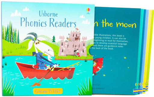 Usborne Phonics Readers 15 Books Box - Ages 5-7 - Paperback - Phil Roxbee Cox - Books2Door