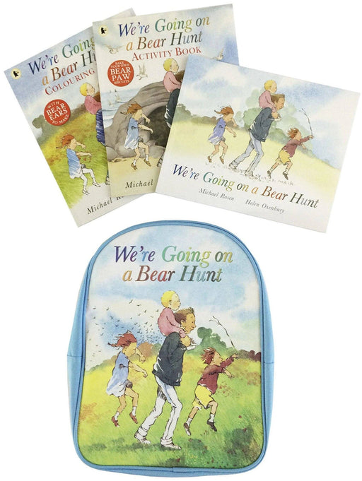 We're Going on a Bear Hunt Backpack and 3 Book Collection By Michael Rosen -Paperback - Age - 5-7 - Books2Door