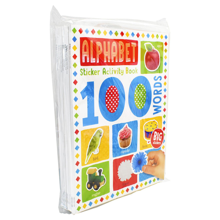 7-9 - 100 Words Sticker Activity 10 Books Set - Ages 7-9 - Paperback