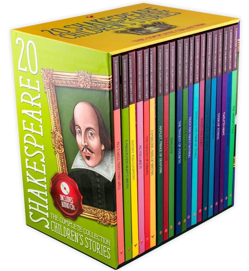 20 Children's Shakespeare Story Books with Audio CD - Tragedy & Comedy - Hardback - Macaw Books - Books2Door