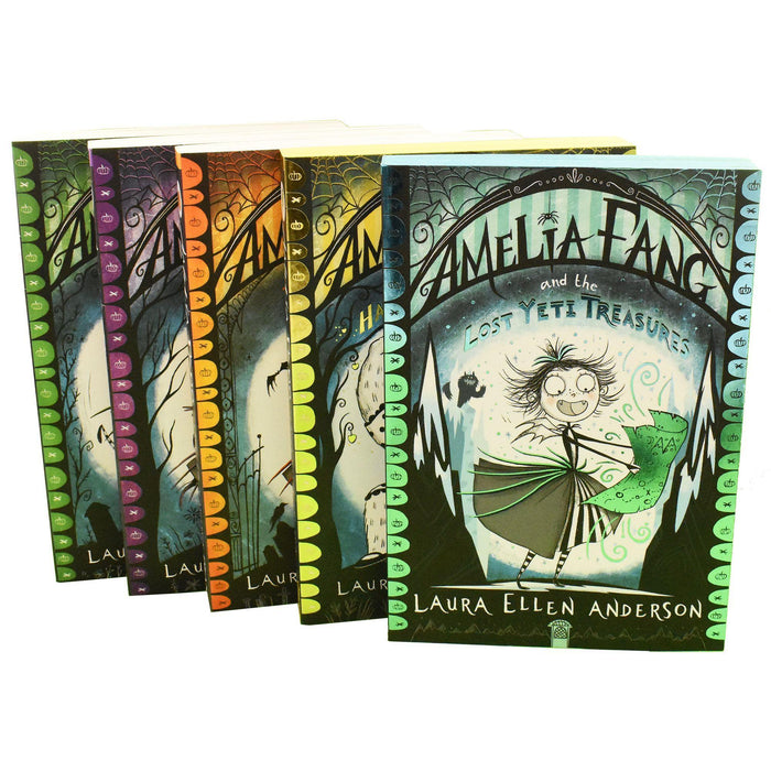 Amelia Fang 5 Books Collection - Ages 7-9 - Paperback - Laura Ellen Anderson - Books2Door