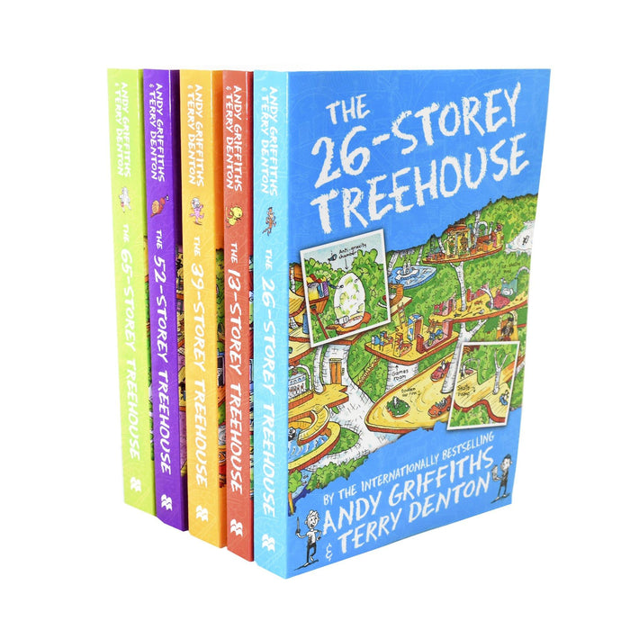 7-9 - Andy Griffiths & Terry Denton The Treehouse 5 Book Collection - Ages 7-9 - Paperback