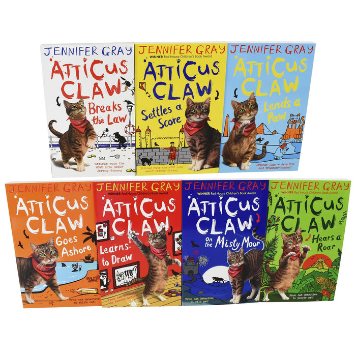 7-9 - Atticus Claw Worlds Greatest Cat Detective 7 Books Collection - Ages 7-9 - Paperback - Jennifer Gray